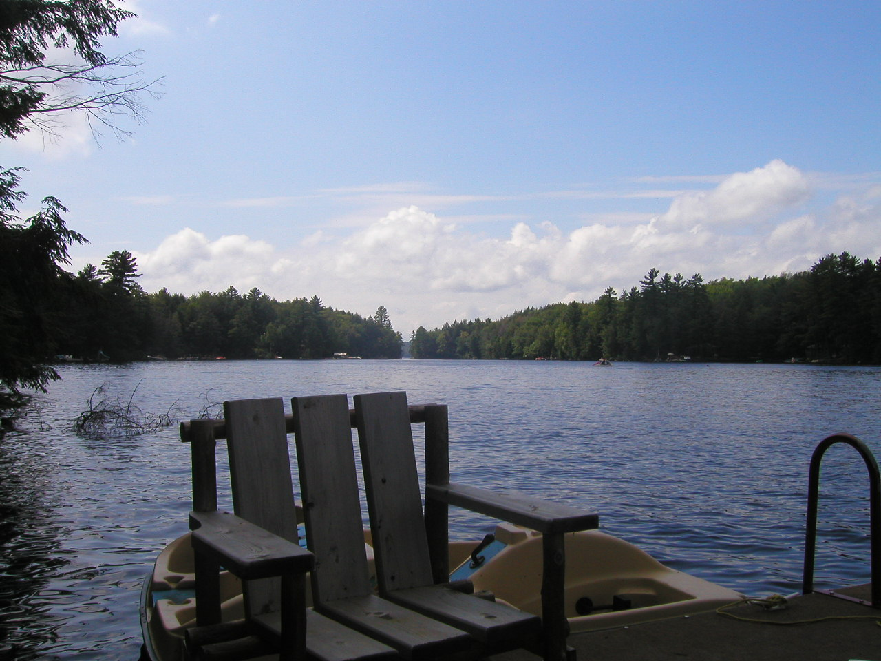 I keep a photo of my cottage lake on my computer as wallpaper, and,